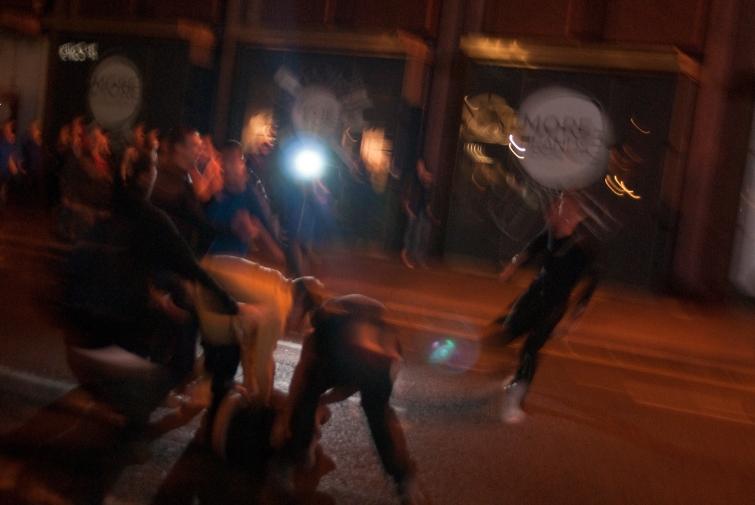 Au lendemain du référendum, unionistes et indépendantistes s'affrontent au centre-ville de Glasgow (crédit : Olivier)