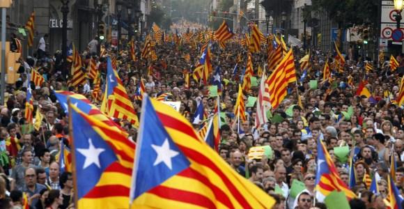 Les rues de Barcelone à l'occasion de la Diada. (crédit: Libertad Digital)